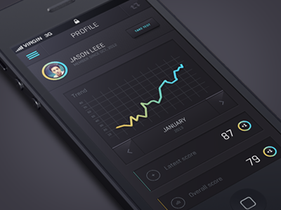 IOS 7 app design by Julien Renvoye